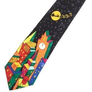 Vintage Men's CHRISTMAS Holiday Silk Tie